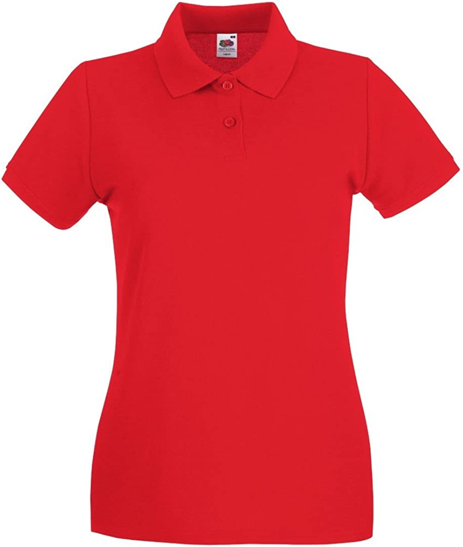 FRUIT OF THE LOOM Womens Fit Premium Short Sleeve Polo Shirt