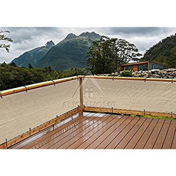 Deck fence privacy netting screen by for Balcony covering nets