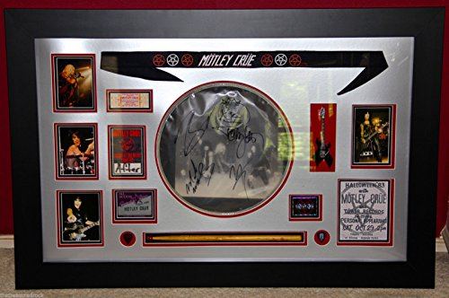 MOTLEY CRUE stage used SIGNED DRUM HEAD guitar pick autographed SHOUT 84 PSA DNA
