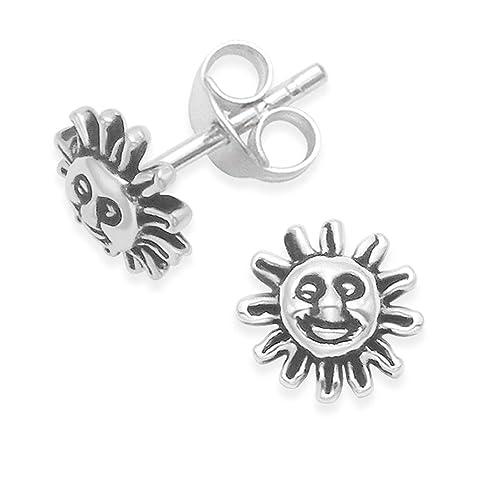 außergewöhnliche Auswahl an Stilen und Farben an vorderster Front der Zeit tolle sorten Silber Sonne Ohrringe - Ohrstecker. Größe: 7 mm in ...