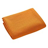 Chen Fitness Hiking Gym Yoga Cooling Quick Dry Super Absorbent Sports Towel (Orange)
