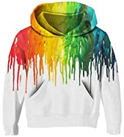 UNICOMIDEA Unisex Sweatshirt Kids Hoodies 3D Print Pullover Clothes with Pocket for 3-14T