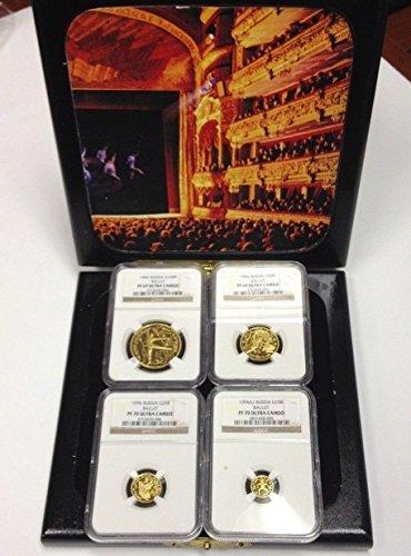 RU 1996 Russia 1996 Proof Set 4 Gold Coins BALLERINA Ball PF 69-70 Ultra Cameo