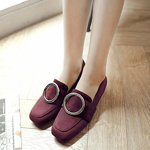 bequem Pumps Rot Shoes Damen Niedrig Nubuck Mee aRg0qPw