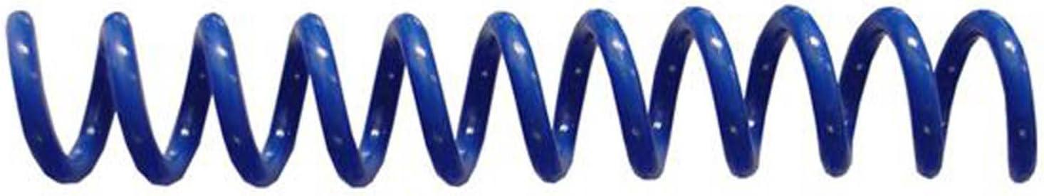 pk of 100 4:1 Spiral Binding Coils 6mm Royal Blue /¼ x 12 PMS 294 C