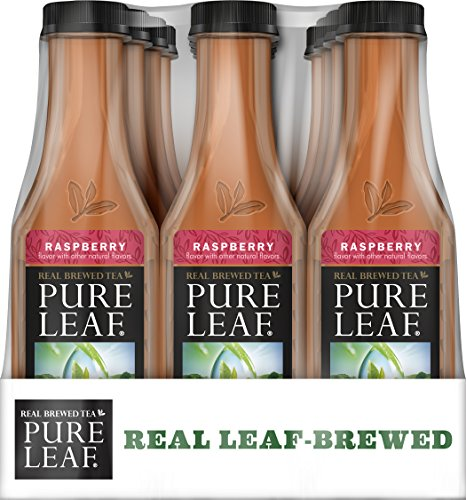 Pure Leaf Iced Tea, Raspberry, Sweetened, Real Brewed Black Tea, 18.5 Ounce Bottles (Pack of 12)
