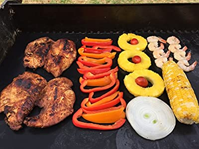 """Backyard Chef Grill Master Grill Mats Baking Mat FDA Approved Heavy Duty Non Stick Grill Mat 16x13"""" Set of 2 - Great Gift Idea Best BBQ Accessories"""