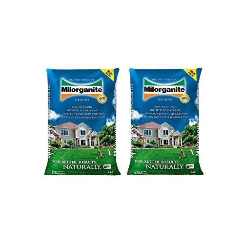 Milorganite Organic Nitrogen Fertilizer, 36-Pound - (2 Pack)
