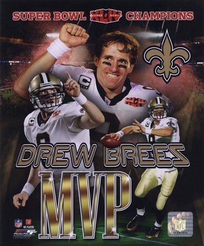 Drew Brees Super Bowl Xliv Mvp Portrait Plus #21 - Art Print Poster