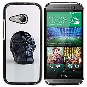 Estuche Cubierta Shell Smartphone estuche protector duro para el teléfono móvil Caso HTC ONE MINI 2 / M8 MINI / CECELL Phone case / / Skull Plastic Reflective 3D Art Printing /