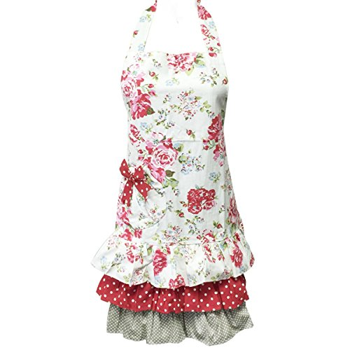 Wrapables A69465c Apron Ruffles Roses