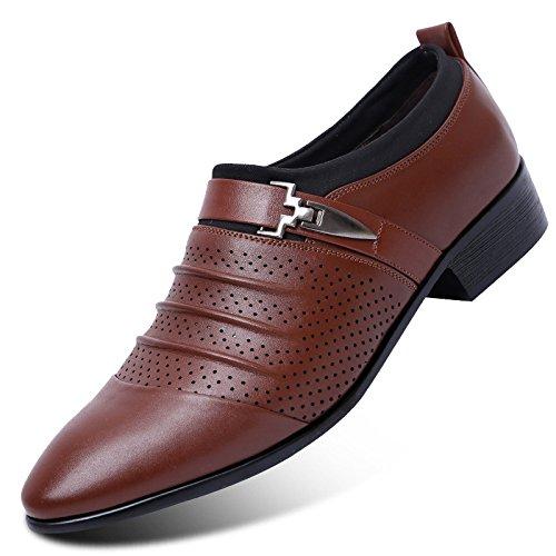 Hombres Negocios Acentuados De Sandalias Cuero Hombres Hombres Nueva Los YXLONG Respirable Agujero De Zapatos brownpedal9312 Zapatos De De Hueco Verano De Tendencia Ocasionales Los PBnwIaqxF