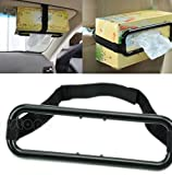 Auto Accessories Car Sun Visor Tissue Box Holder Paper Napkin Seat Back Bracket Portable Black in Car Mount Organizer