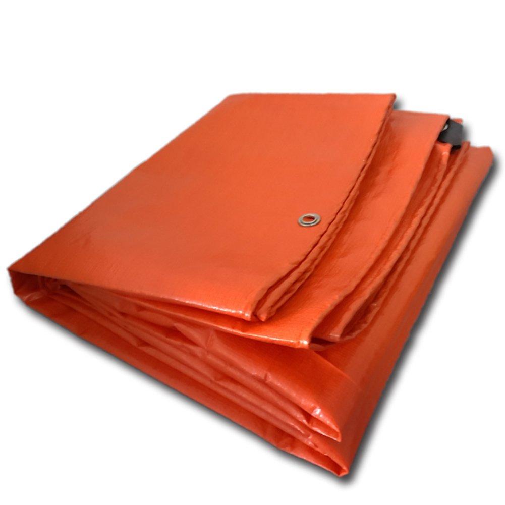 DYFYMXOutdoor Ausrüstung Plane, regendichte Sonnenschutzplane, LKW Plane Holzschutz Hochtemperatur Anti-Aging, Orange @