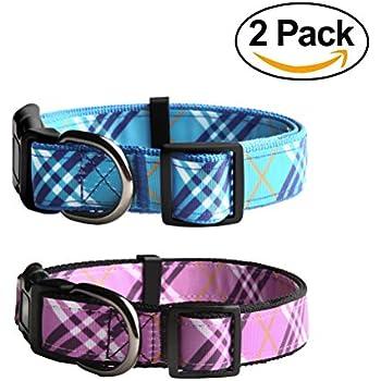 Amazon.com : The Artful Canine Pink Plaid Furberry Plaid Dog Collar