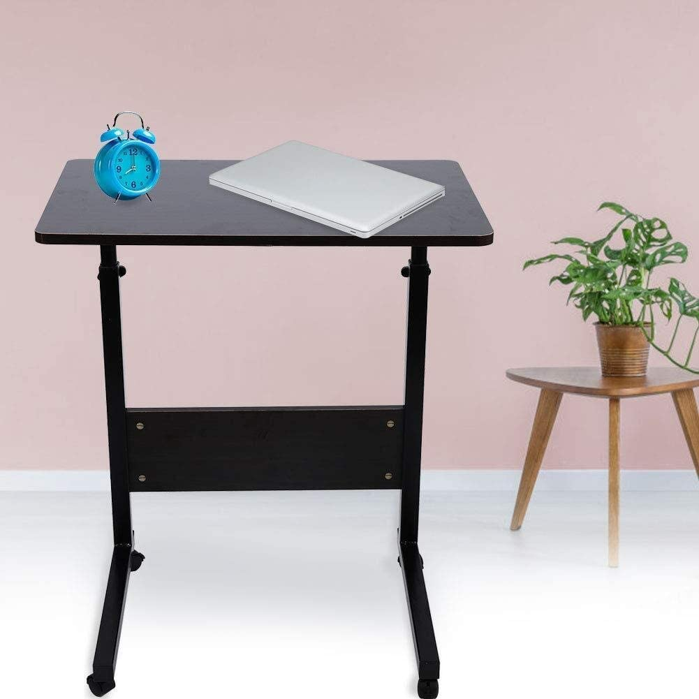 Color : Dark Walnut LEYOUDIAN Computer Desk Portable Altezza Regolabile Densit/à Consiglio Acciaio al Carbonio Staffa Notebook Comodino