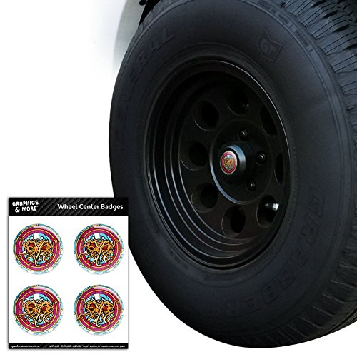 Graphics and More Flying Spaghetti Monster Stained Glass Tire Wheel Center Cap Resin-Topped Badges Stickers - 2.2