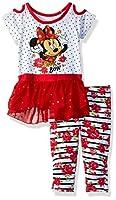 Disney Baby Girls Minnie 2 Piece Legging Set, Lollipop, 12m