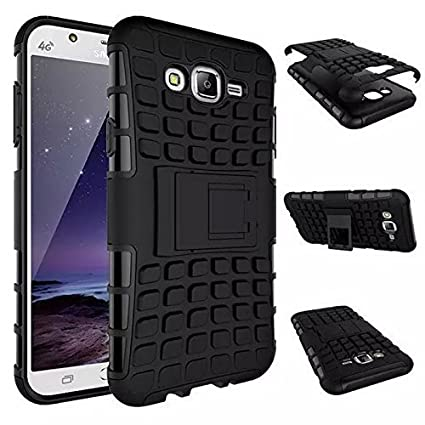 promo code 3c697 a1803 VINXX Kickstand Defender Case For Samsung Galaxy J1 Back Cover (Black) With  Men's PU Leather Belt