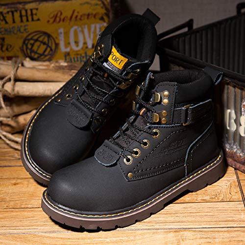 A Homme De Chaudes D'hiver Impermable Bottines Fourrure Neige Tqgold Chaussures noir Baskets Femme Chaudement Outdoor Sports Bottes Cuir awdnqtBf