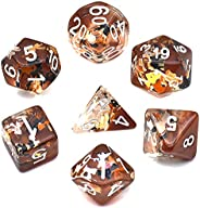 cusdie Polyhedral Dice Sets DND Four Seasons Dice for Dungeons and Dragons(D&D) Role Playing Game(RPG) MTG