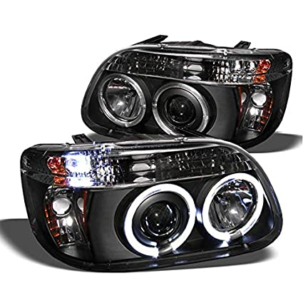Xtune 1995 2001 Ford Explorer Twin Halo Led Projector Headlights Black Head Lights Pair Left Right 1996 1997 1998 1999 2000