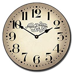 Houston Parchment Wall Clock, Available in 8 Sizes, Most Sizes Ship 2-3 Days,