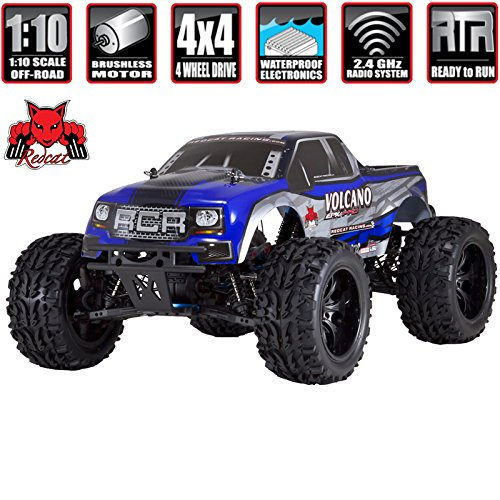 Pro Model Truck - Redcat Racing Volcano EPX PRO Brushless Electric Truck, Blue/Silver, 1/10 Scale