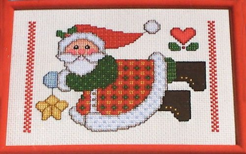 Janlynn Collectors Series Christmas Delights Counted Cross Stitch Kit #41-107 Star Santa Designed by Maryanne ()