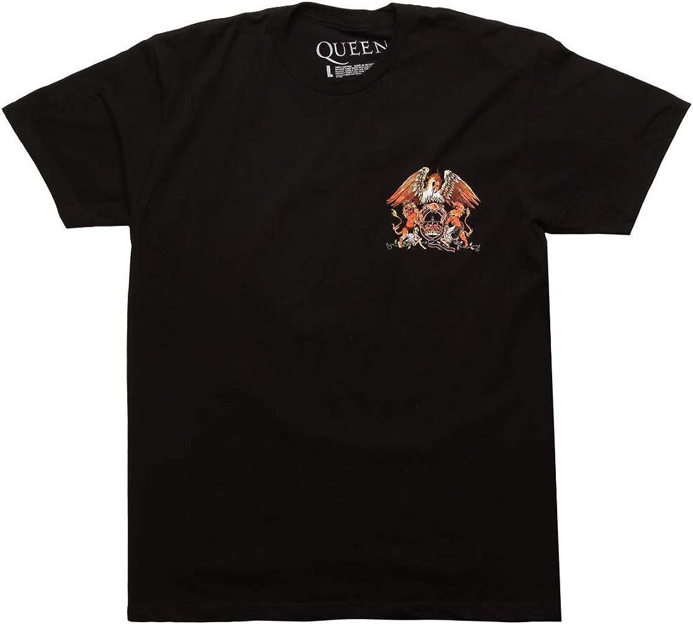 Official Queen T Shirt Classic Crest band logo Bohemian Rhapsody Freddie Mens