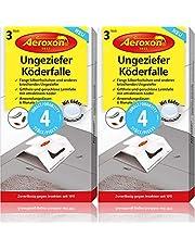 Aeroxon Ungeziefer Köder-Falle 8 Stück – zuverlässige Ungezieferbekämpfung – Schabenfalle, Silberfischfalle, Insektenfalle, auch gegen Kellerasseln und anderes kriechendes Ungeziefer
