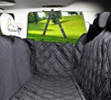 Dog Car Seat Covers Unique Design & Entire Car Protection-Doors - Headrests & Backseat. Extra Durable Zippered Side Flap - Waterproof Pet Seat Cover + Seat Belt & 2 Headrest Protectors as a Free Bonus