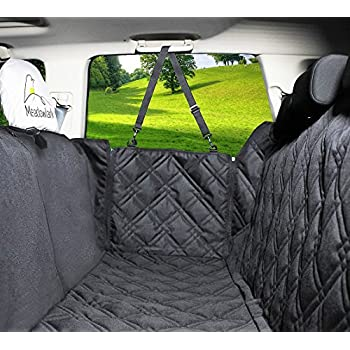 Dog Car Seat Covers Unique Design Entire Protection DoorsHeadrests Backseat Extra Durable Zippered Side Flap Waterproof Pet Cover