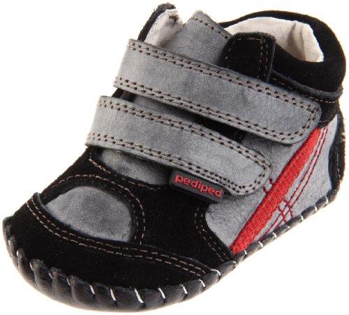 pediped Originals Jamie Sneaker (Infant),Black,Small (6-12 Months)