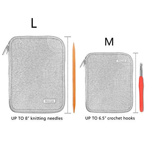 Damero Crochet Hook Case Travel Storage Bag Various Crochet Needles Accessories