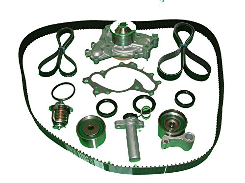 Timing Belt Kit Toyota Sienna 1998 to 2002 Aisn Water Pump Mitsuboshi timing belt Koyo brand idler and tensioner NTN Tensioner Bando drive belts Japanese made seals and thermostat