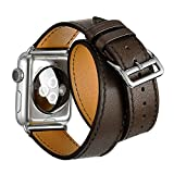 Yatale Apple Watch Band Genuine Leather Band with Metal Clasp for Apple iWatch Lowest Price