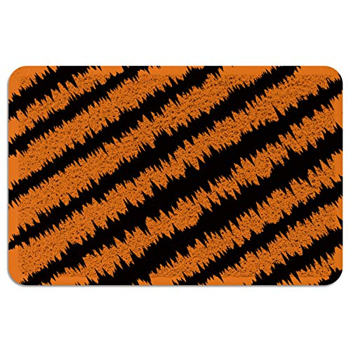 Vandarllin Large Outdoor Door Mats Happy Hollowen Claws Orange Black Entrance Rug Patios/Front Door/Entryway/Porch/Outside Carpets Non Slip Rubber Back, 24x36 Inch]()