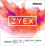 D\'Addario Zyex Violin String Set, 1/16 Scale, Medium Tension