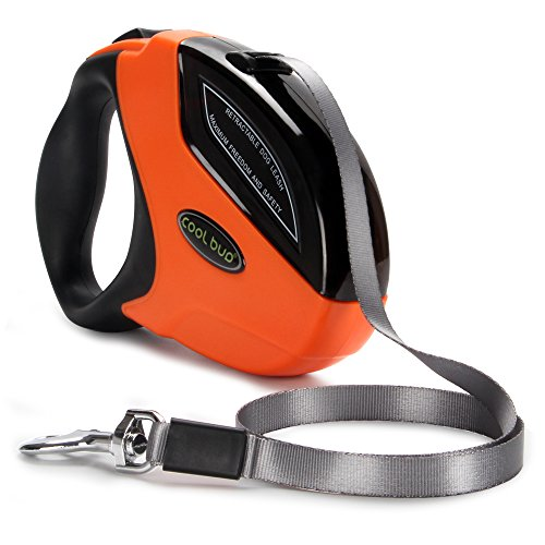 Anchors Nylon Leash Ribbon (Retractable Dog Leash,Heavy Duty 16 Foot Extended Dog Walking Leash Adjustable with Break and Lock Button-Sturdy Nylon Ribbon Cord,Tangle Free,Suitable for Small,Medium and Large Dogs Up to 110 Lbs)