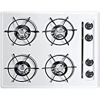 Summit WNL033 Gas Cooktops, White