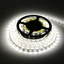 LEDMO SMD5630 Led Strip Light, 300LEDs 16.4Ft DC12V Daylight White Non-waterproof 25Lm/LED, 2 times brightness than SMD5050 LED Ribbon Light, 5630 LED Tape