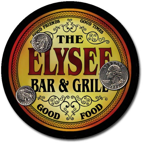 Elysee Family Bar and Grill Patriotic Rubber Drink Coaster Set