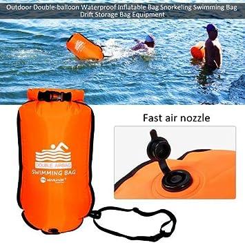 Gereton Bolsa Seca Impermeable Boya De Natación Inflable Rapido de Inflar y Desinflar para Rafting,Kayak,Bucear,Pesca,Camping