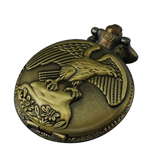 Vigoroso eagle men lady vintage retro bronze steampunk 48mm pocket vigoroso eagle men lady vintage retro bronze steampunk 48mm pocket watch pendant necklace in box aloadofball Gallery
