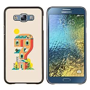 KLONGSHOP // Cubierta de piel con cierre a presión Shell trasero duro de goma Protección Caso - Casa de juegos - Samsung Galaxy E7 E700 //