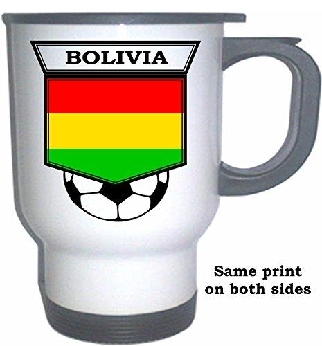 Bolivian Soccer White Stainless Steel Mug - Bolivia