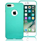 iPhone 7 Plus Case,LoTus[Scratch Resistant,Shockproof,Skid-proof ] Durable Flexible Soft Rubber TPU Gel Protective Bumper Cover Perfect fit for iPhone 7 Plus-with Screen Protector-Candy Green