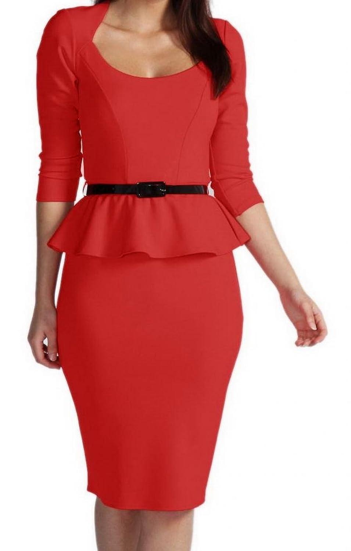 La vogue Anbend Damenklerder Sommerkleider mit Gürtel