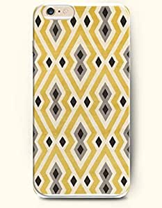 Yellow White Grey And Black Rhombus - Geometric Pattern - Phone Cover for Apple iPhone 6 Plus ( 5.5 inches ) - OOFIT Authentic iPhone Case
